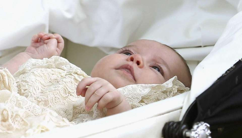 Princess Charlotte after her christening at St. Mary