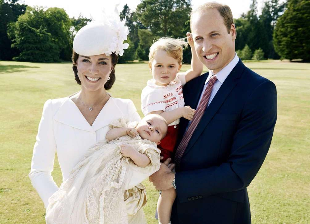 Catherine, The Duchess of Cambridge, holding daughter Princess