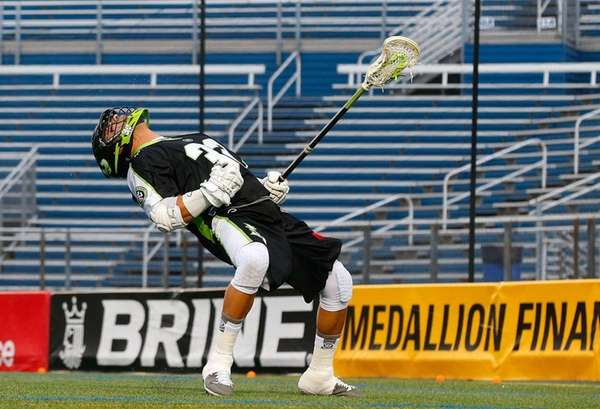 Greg Gurenlian of the New York Lizards celebrates