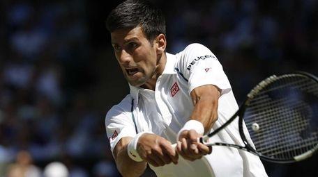 Serbia's Novak Djokovic returns to France's Richard Gasquet