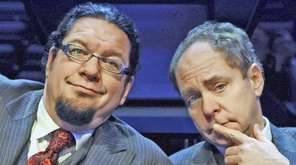 Penn Jillette, left, and his partner-in-magic, Teller.