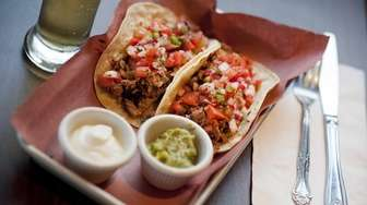 Brisket tacos are a house favorite at One