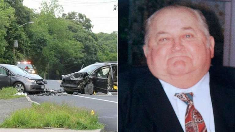 John Loetscher, 80, right, of Hampton Bays died