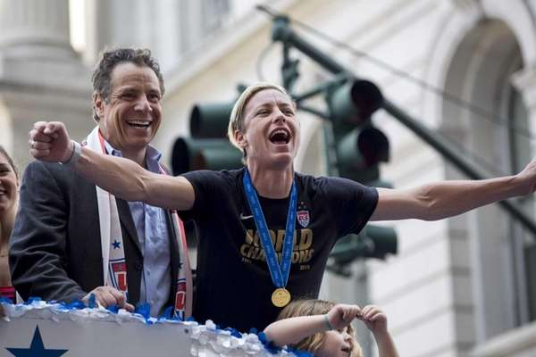 New York Governor Andrew Cuomo and U.S. women's
