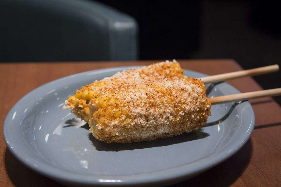 Mexican street corn (corn on the cob with