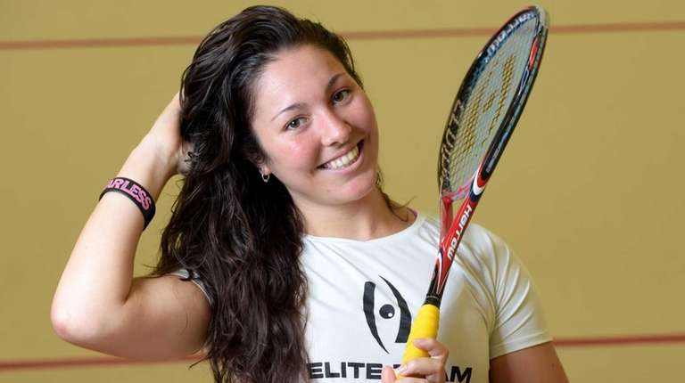 Amanda Sobhy, a nationally-ranked women's squash player from