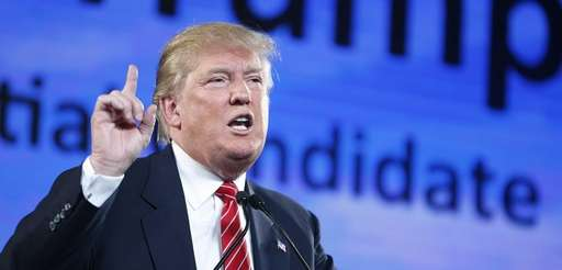 Republican presidential candidate Donald Trump speaks at FreedomFest,