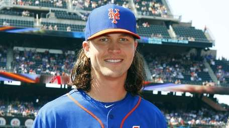 Jacob deGrom #48 of the Mets poses with