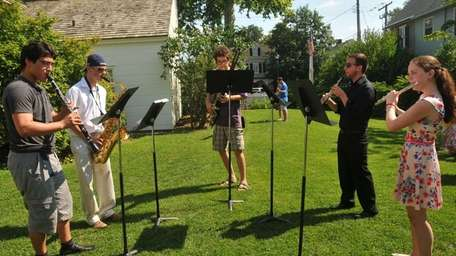 Student musicians perform at the Oyster Bay Music