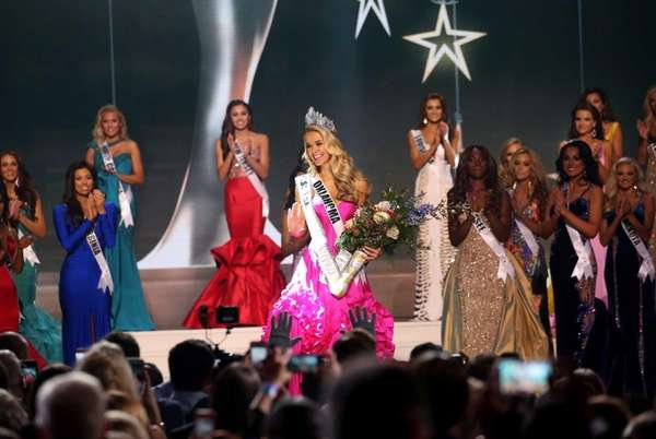 Miss USA Olivia Jordan of Oklahoma onstage at