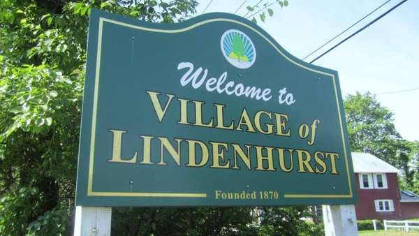 The Village of Lindenhurst sign in 2011.