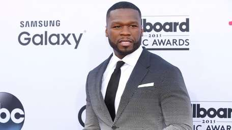 50 Cent arrives at the Billboard Music Awards