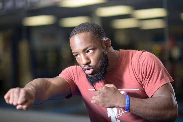 MMA fighter Andre Harrison trains at Bellmore Kickboxing