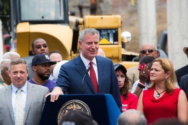 Mayor Bill de Blasio announced that the city