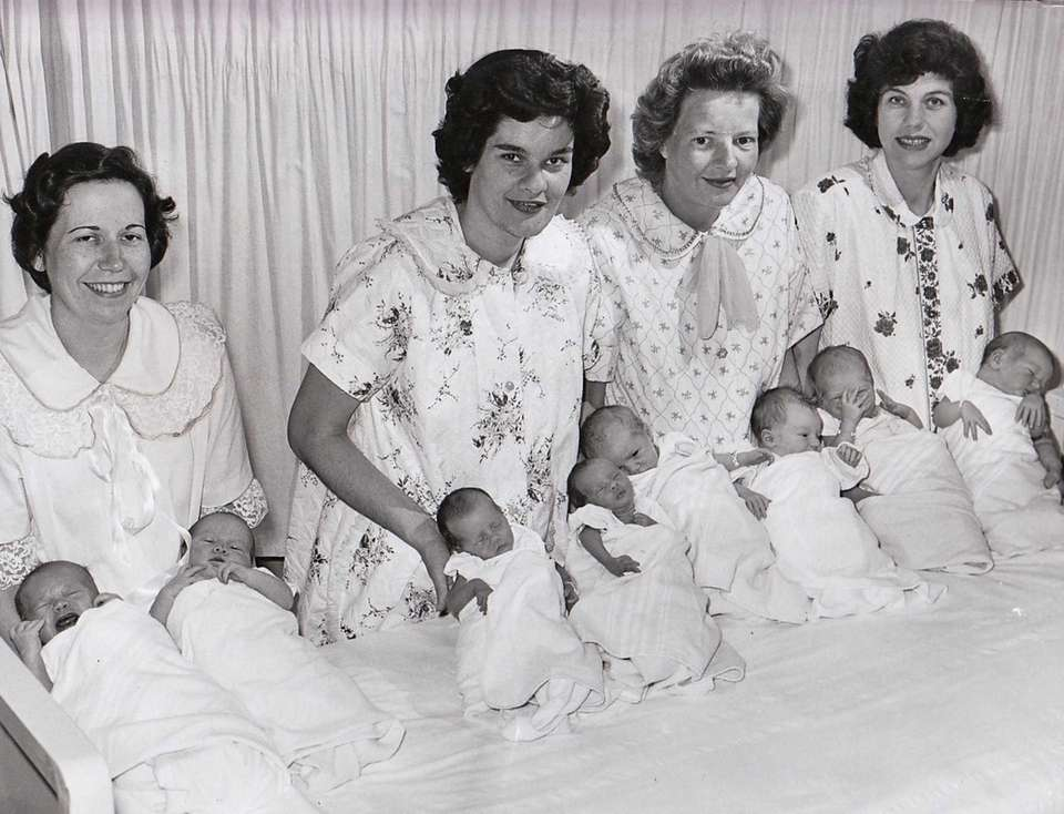 Four sets of twins were born within 72