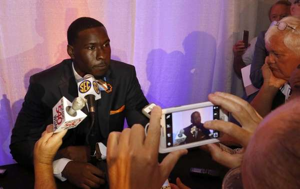 Auburn's Jeremy Johnson during the SEC Media Days