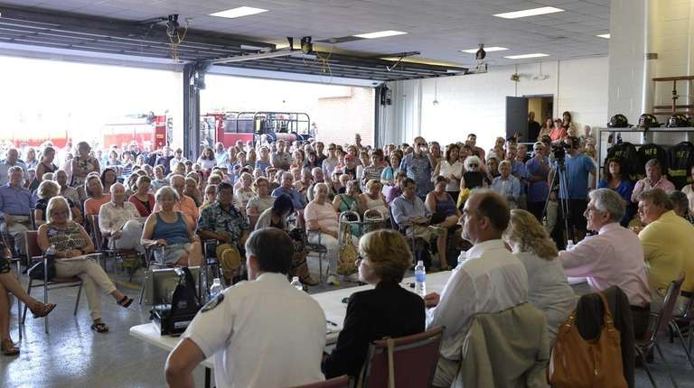 More than 250 people, mostly Montauk residents, concerned