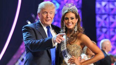 Donald Trump and Miss Connecticut USA Erin Brady