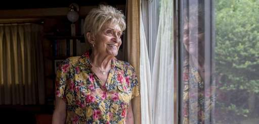 Joanne Borden, 89, in her North Woodmere home,