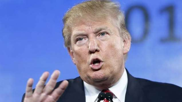 Republican presidential candidate Donald Trump speaks at FreedomFest