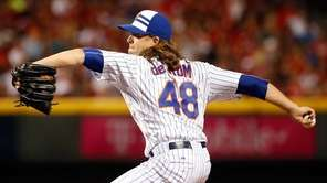 National League All-Star Jacob deGrom of the New