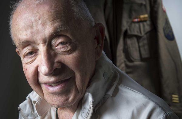 World War II veteran Jerry Weingart at his