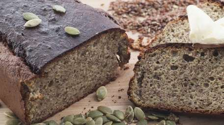 Homemade gluten-free almond flour bread with pumpkin and