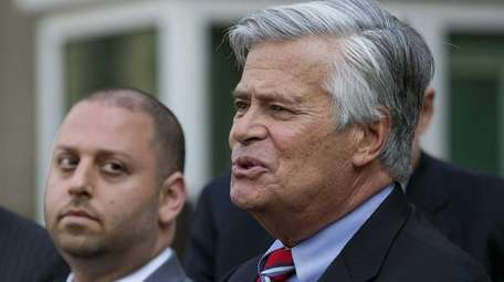 Sen. Dean Skelos (R-Rockville Centre) and his son,