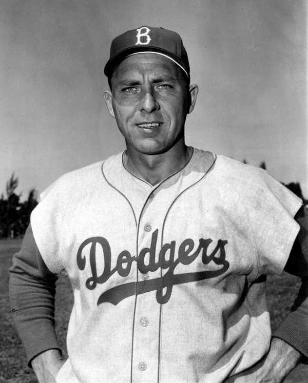 Gil Hodges of the Brooklyn Dodgers poses during