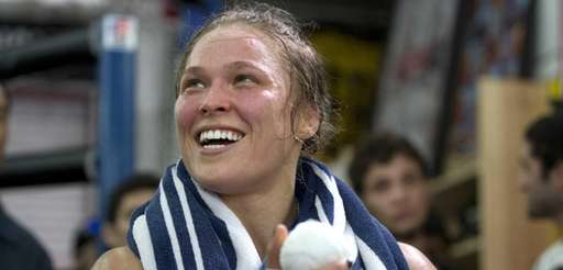 Ronda Rousey, the UFC bantamweight champion, works out