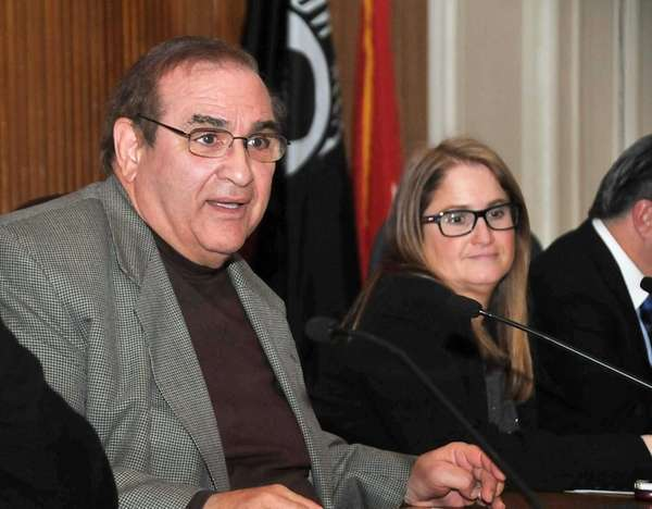 Huntington Supervisor Frank Petrone sits during a town