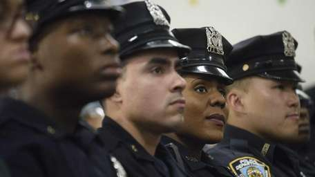 Members of the New York City Police Department