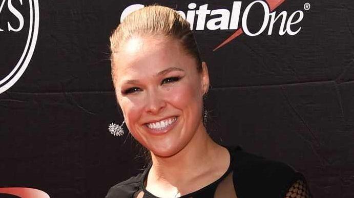 UFC women's bantamweight champion Ronda Rousey attends The