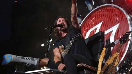 Dave Grohl of the Foo Fighters performs at