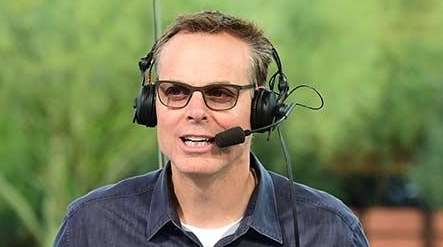 Colin Cowherd on the set of