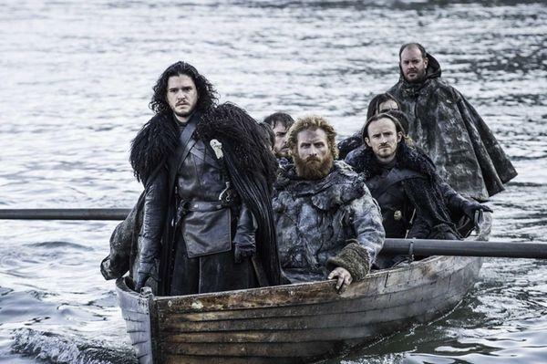 The boys are finally coming ashore -- April