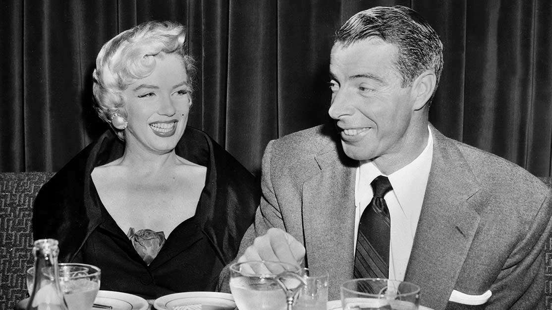 Yankees legend Joe DiMaggio, right, with his wife