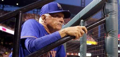 Mets manager Terry Collins watches from the dugout