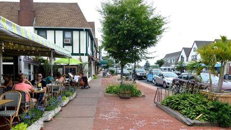 Montauk Village, when it is quiet and not