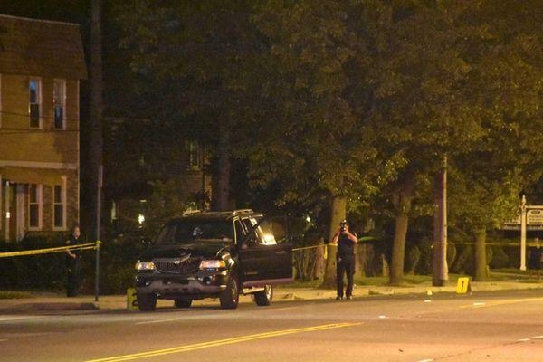 Nassau police at the scene in Uniondale where