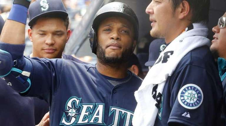Robinson Cano of the Seattle Mariners celebrates his