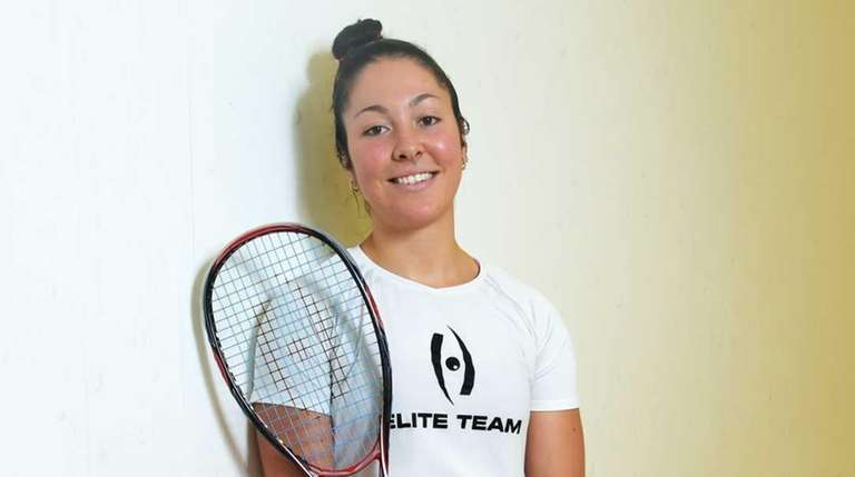 Amanda Sobhy, a nationally ranked women's squash player