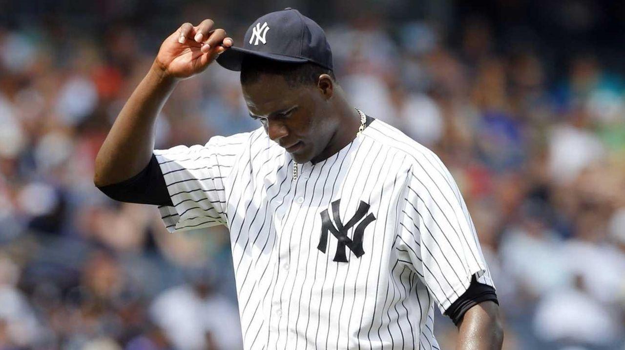 Michael Pineda of the New York Yankees looks