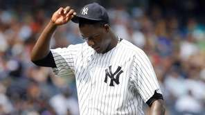 Michael Pineda of the New York Yankees looks
