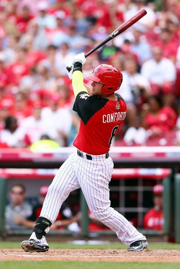 Michael Conforto of the U.S. Team bats against