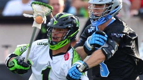 Jo-Jo Marasco of the New York Lizards, left,