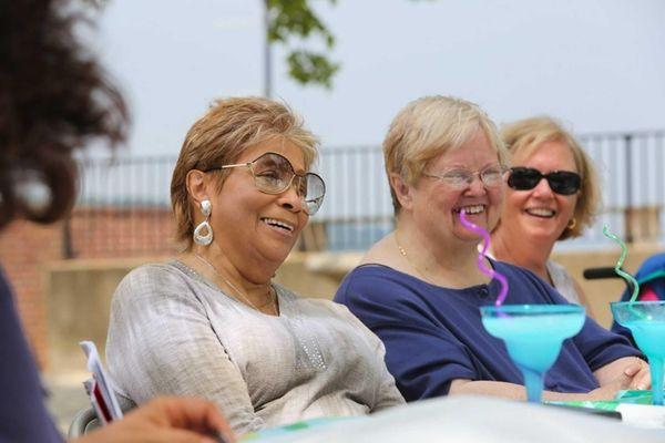 From left, Valerie Watkins of Westbury, Joan Ortiz