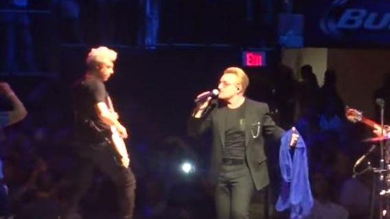 Bono and U2 perform