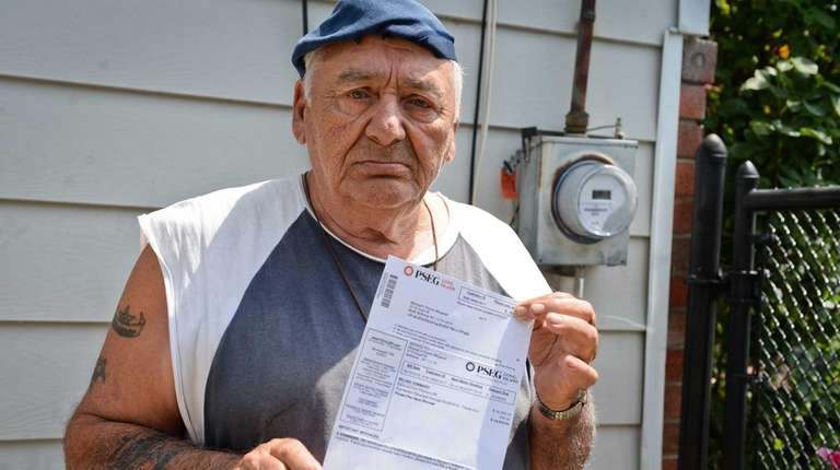 North Bellmore resident Michael Puorro, shows off his