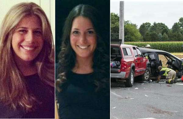 From left, Stephanie Belli, 23, of Kings Park,